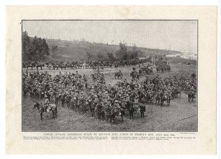 1916 BATTLE OF THE SOMME Indian Cavalry Assembled for Advance 14 July